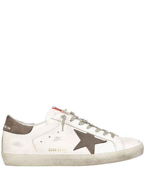 Sneakers Golden Goose superstar g35ms590.q11 white - grey nabuk star