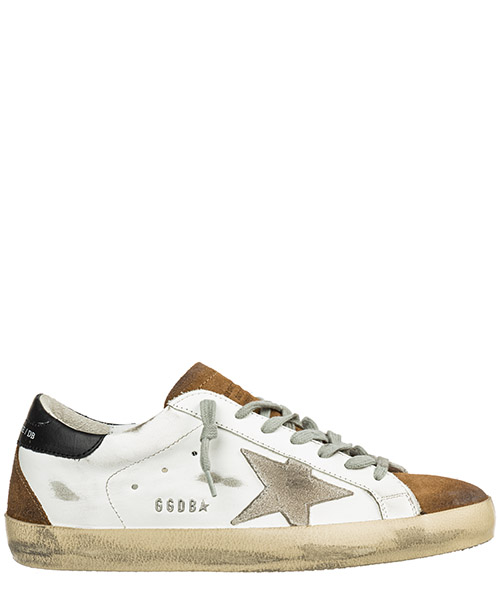 Sneakers Golden Goose superstar g35ms590.q18 white mud suede ice star