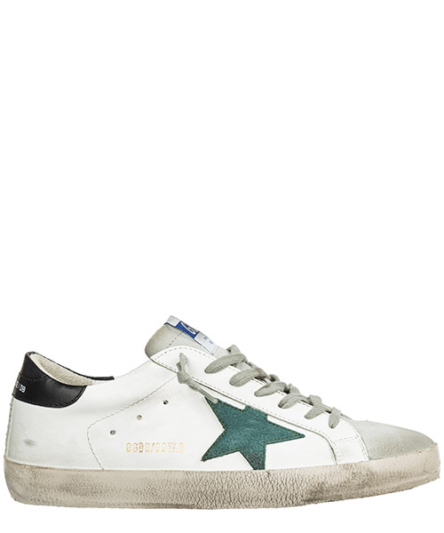 Sneakers Golden Goose superstar g35ms590.q21 white pine green star