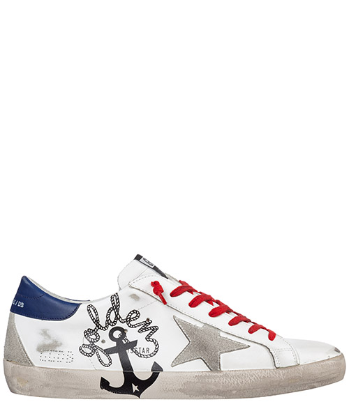 Sneakers Golden Goose superstar g35ms590.q62 bianco