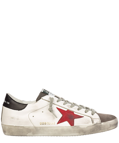 Sneakers Golden Goose superstar g35ms590.q74 white leather - red suede
