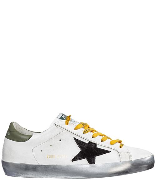 Sneakers Golden Goose superstar g35ms590.q77 white leather - black star