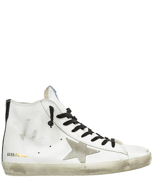 High-top sneakers Golden Goose Francy G35MS591.C14 white leather - blue sole