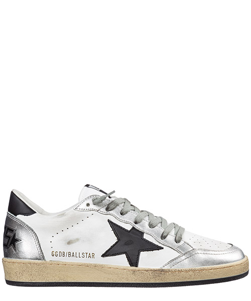 Zapatillas Golden Goose ball star g35ms592.z5 white - silver - black