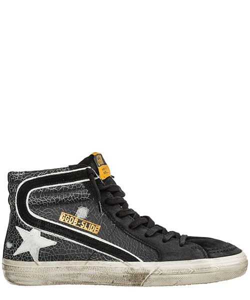 High-top sneakers Golden Goose Francy G35MS595.A45 black crack - white star