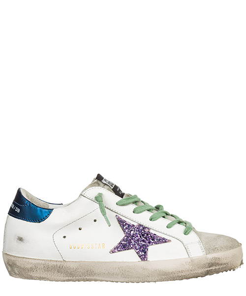 Sneaker Golden Goose Superstar G35WS590.O74 white blue - pink glitter
