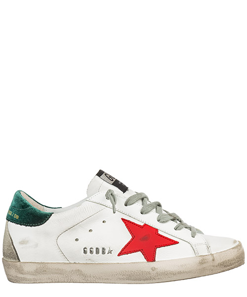Sneaker Golden Goose Superstar G35WS590.O89 white - tomato star metal lettering