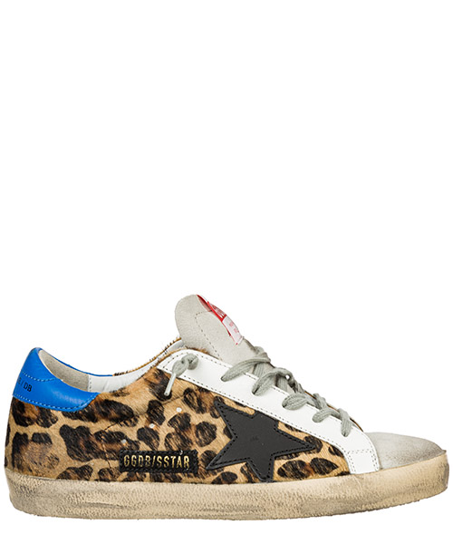 Sneaker Golden Goose Superstar G35WS590.P85 snow leopard -  royal