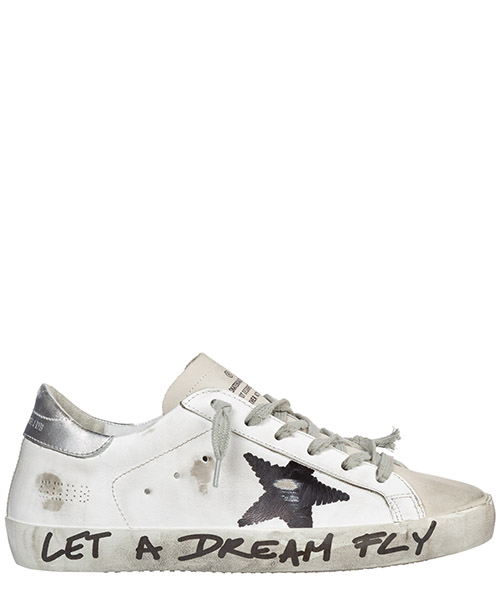 Sneaker Golden Goose Superstar G35WS590.Q27 white leather - black star