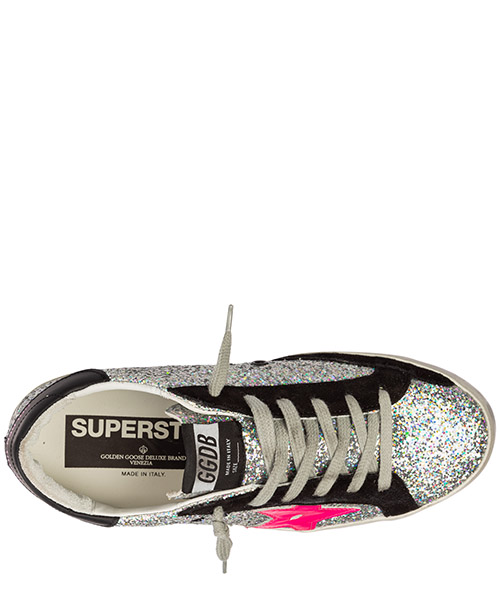 Chaussures baskets sneakers femme en cuir superstar secondary image