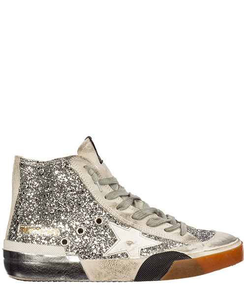 High-top sneakers Golden Goose francy g35ws591.c37 argento