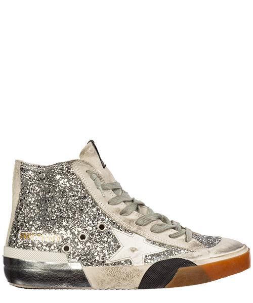 Sneakers alte Golden Goose francy g35ws591.c37 argento
