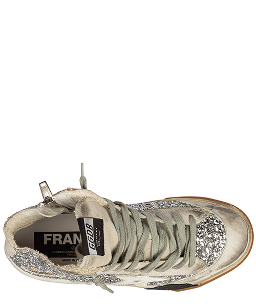 Scarpe sneakers alte donna in camoscio francy secondary image
