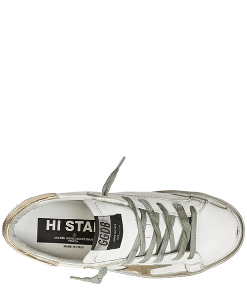 Chaussures baskets sneakers femme en cuir hi star secondary image