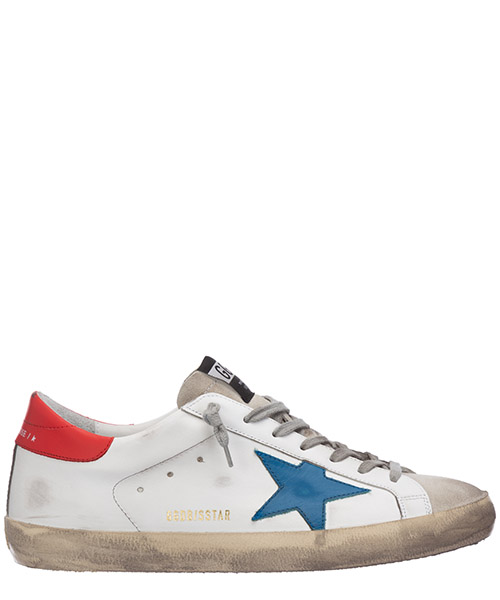 Sneakers Golden Goose superstar G36MS590.T77 white - blu star red