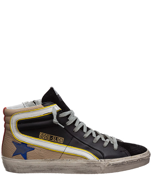 High-top sneakers Golden Goose slide G36MS595.A87 black
