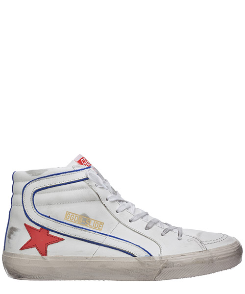 High-top sneakers Golden Goose slide G36MS595.B15 bianco