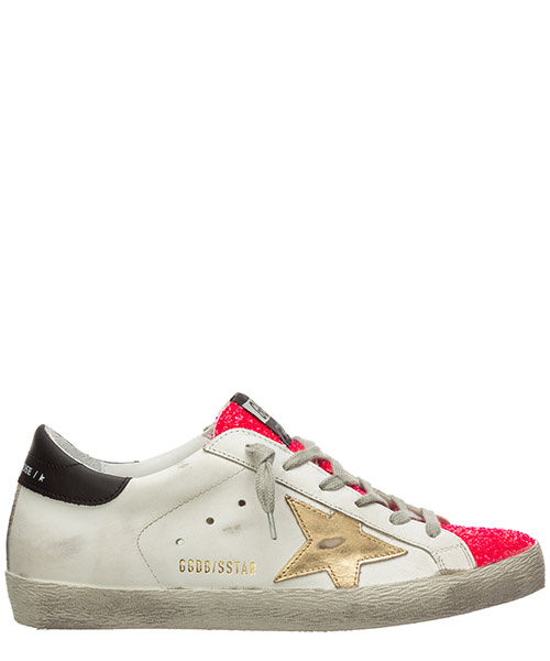 Sneakers Golden Goose superstar G36WS590.S45 white - glossy pink gold
