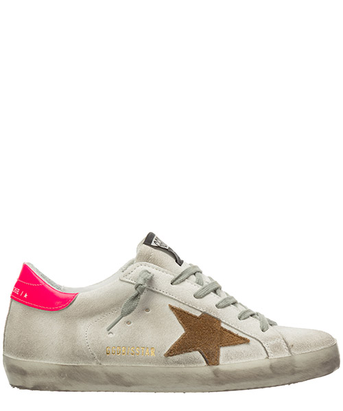 Sneakers Golden Goose superstar G36WS590S.81 white - shocking pink