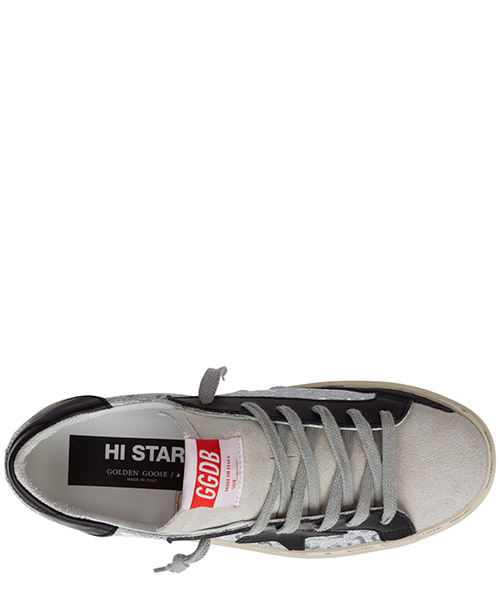 Women's shoes leather trainers sneakers hi star secondary image