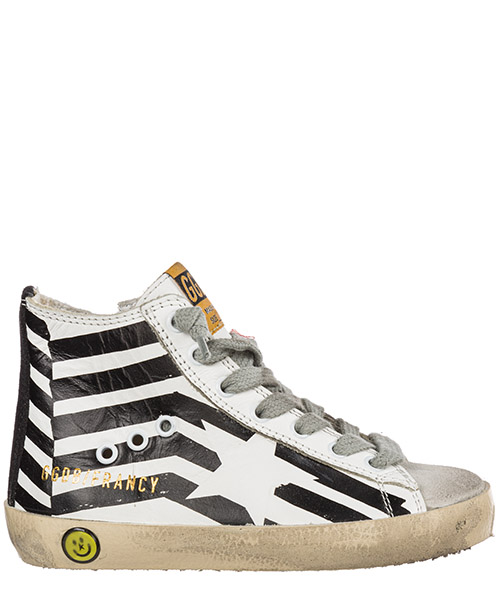 Sneakers alte Golden Goose Francy GCOKS002.L3 bianco