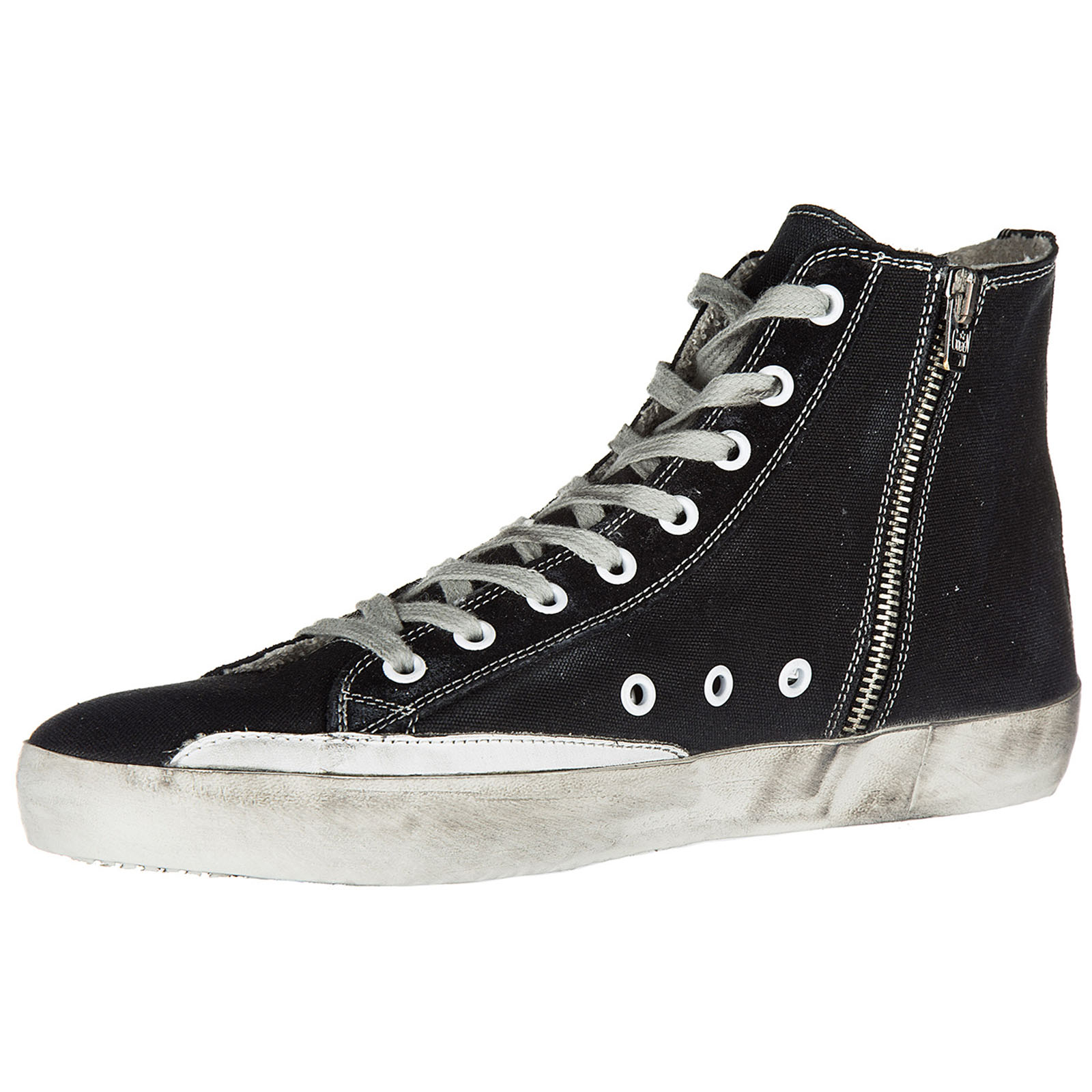 Men's shoes high top trainers sneakers francy