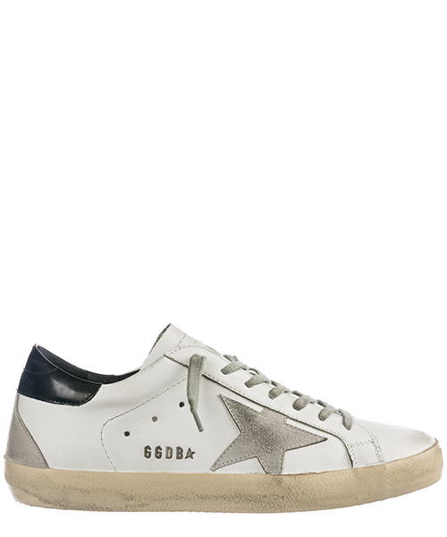 Sneakers Golden Goose superstar gcoms590.w55 white black cream metal lettering