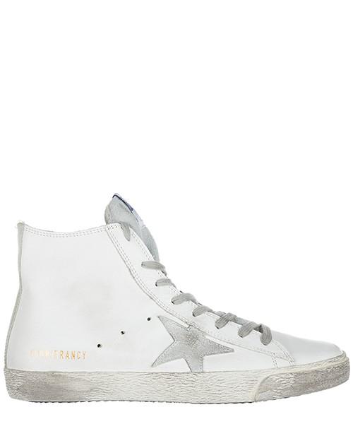 Zapatillas altas Golden Goose GCOWS591 G3 white silver