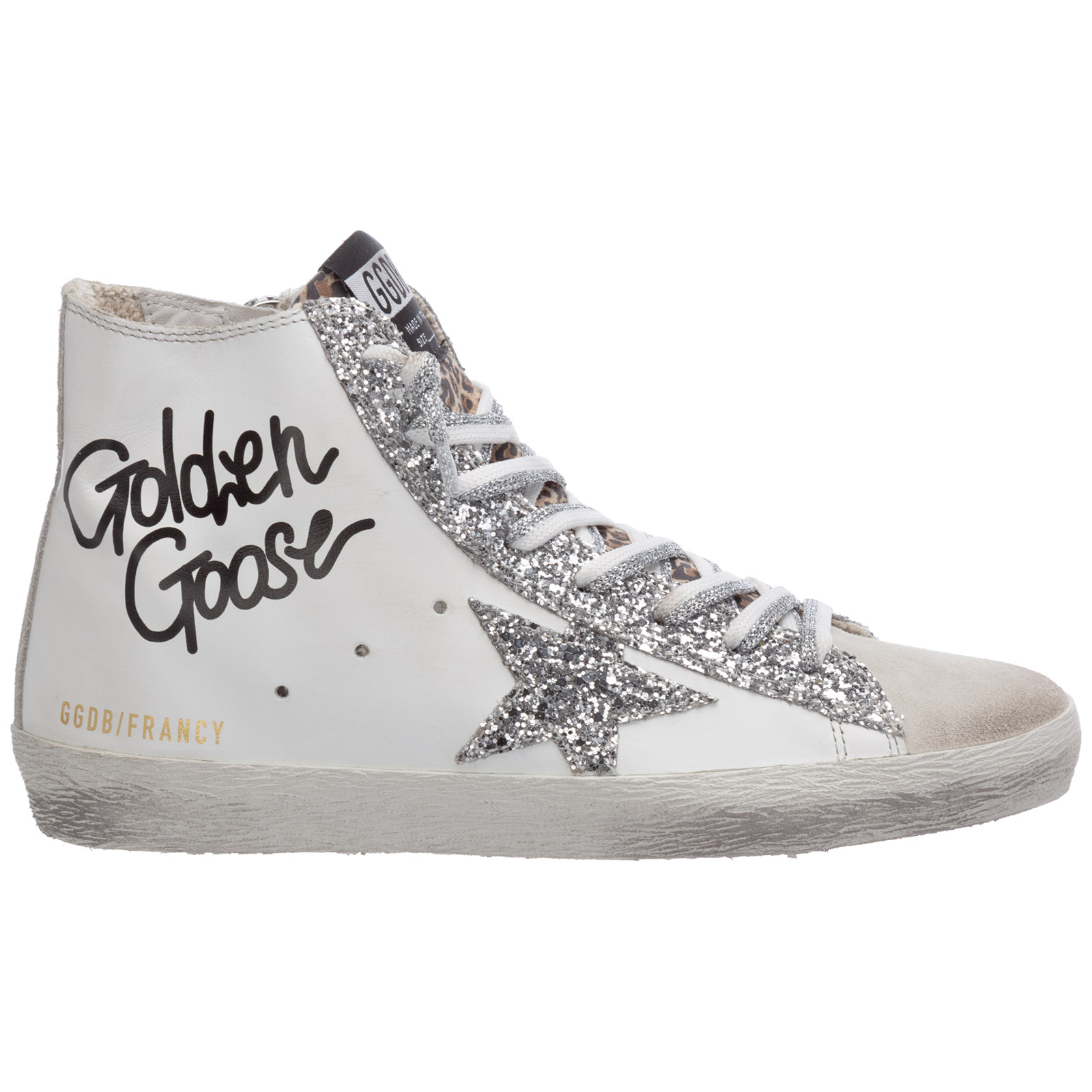 Golden Goose Leathers WOMEN'S SHOES HIGH TOP LEATHER TRAINERS SNEAKERS FRANCY