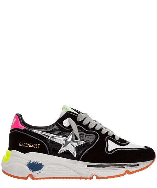 Sneakers Golden Goose Running GWF00126.F000280.90175 black / white / silver / fuchsia