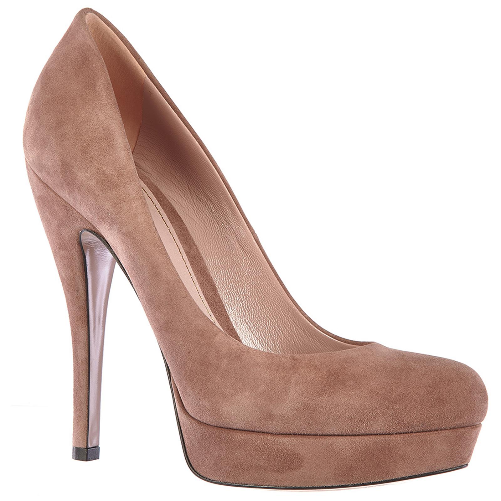 Damenschuhe plateau pumps wildleder high heels