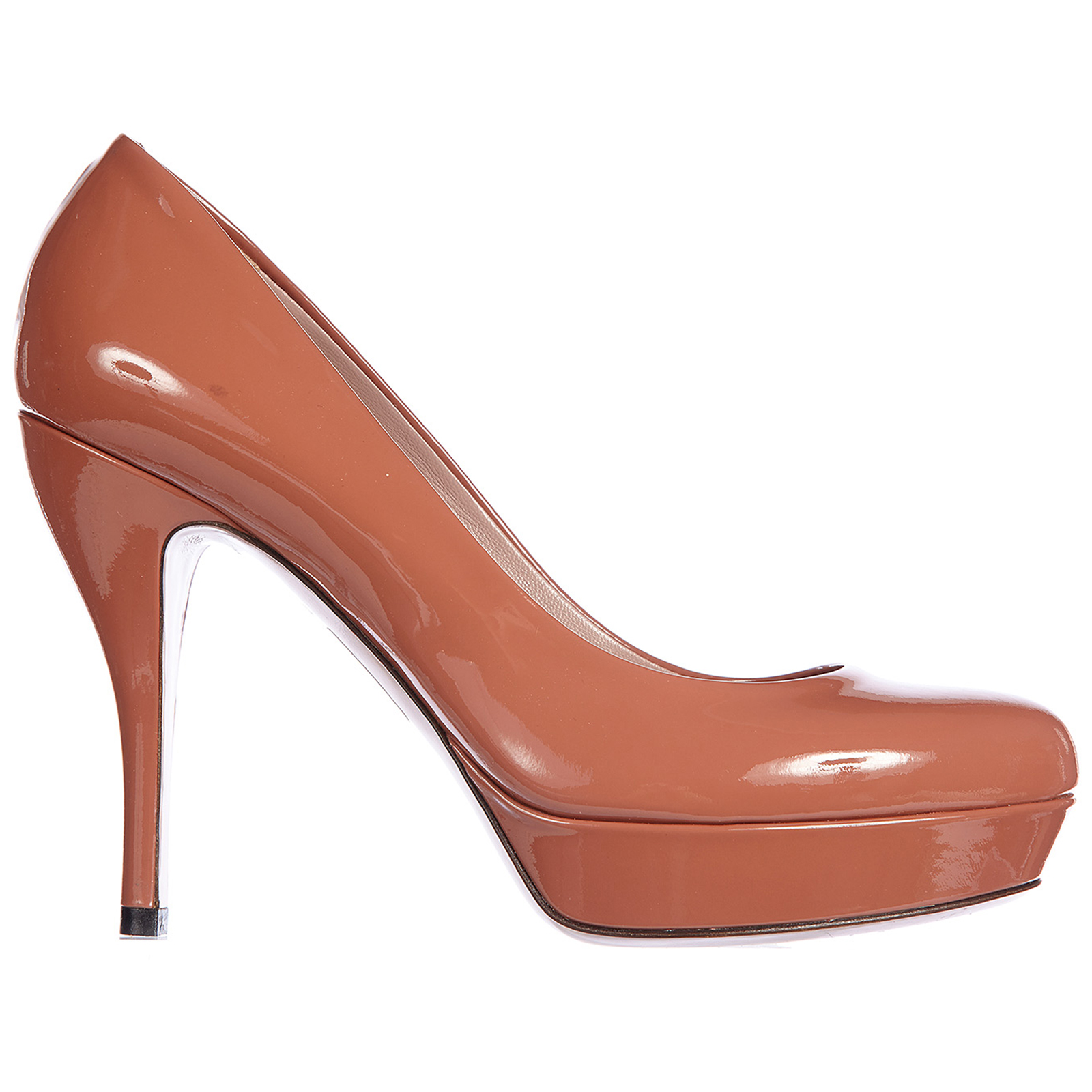 Women's leather pumps court shoes high heel crystall vernice