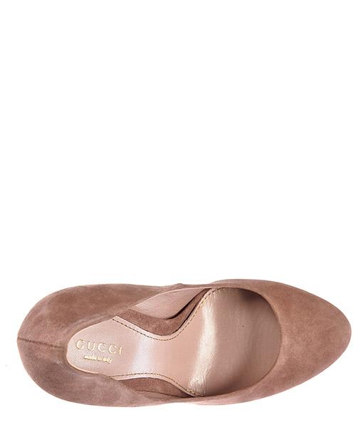 Decolletes decoltè scarpe femme tacco plaeau camoscio secondary image