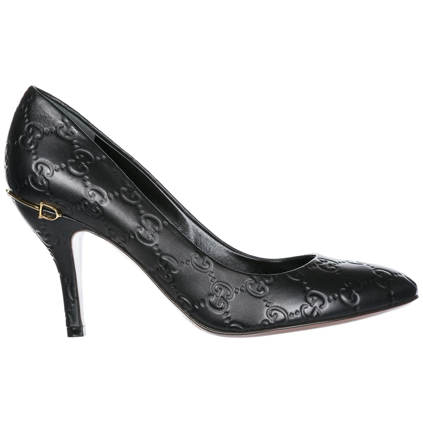 scarpe gucci donna tacco  Décolleté Gucci 310184AA6001000 nero