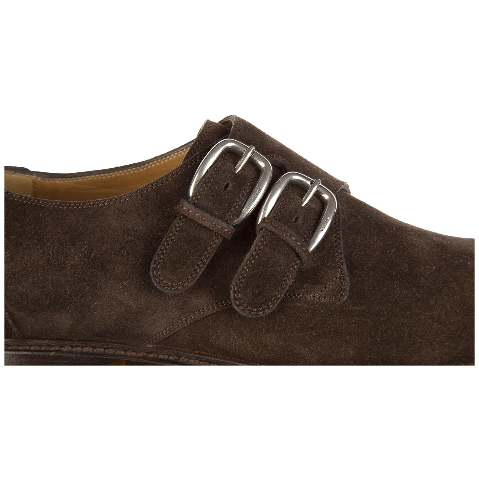 Scarpe stringate classiche uomo in camoscio monkstrap queen