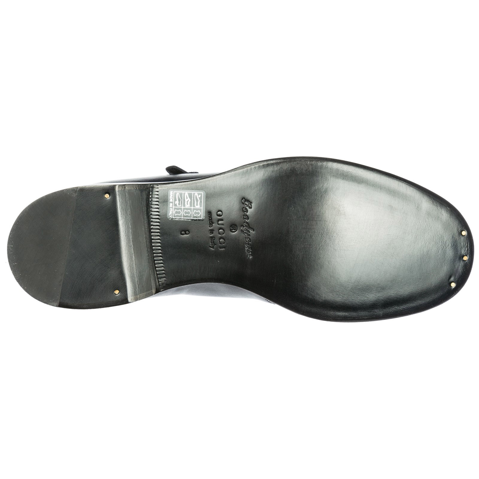 Men's classic leather formal shoes slip on monkstrap
