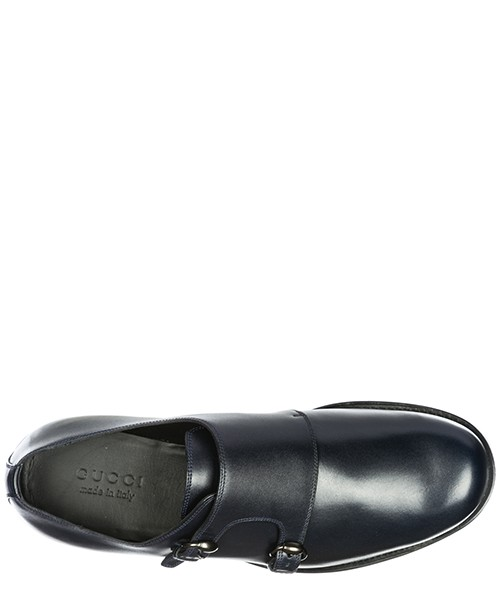 Herren leder formal business slipper schuhe monkstrap secondary image