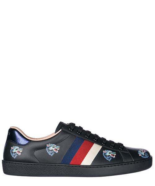 Chaussures baskets sneakers homme en cuir wolves