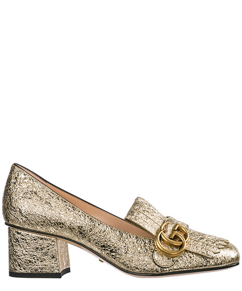 Zapatos de tacon Gucci 408208 DKT00 7100 oro