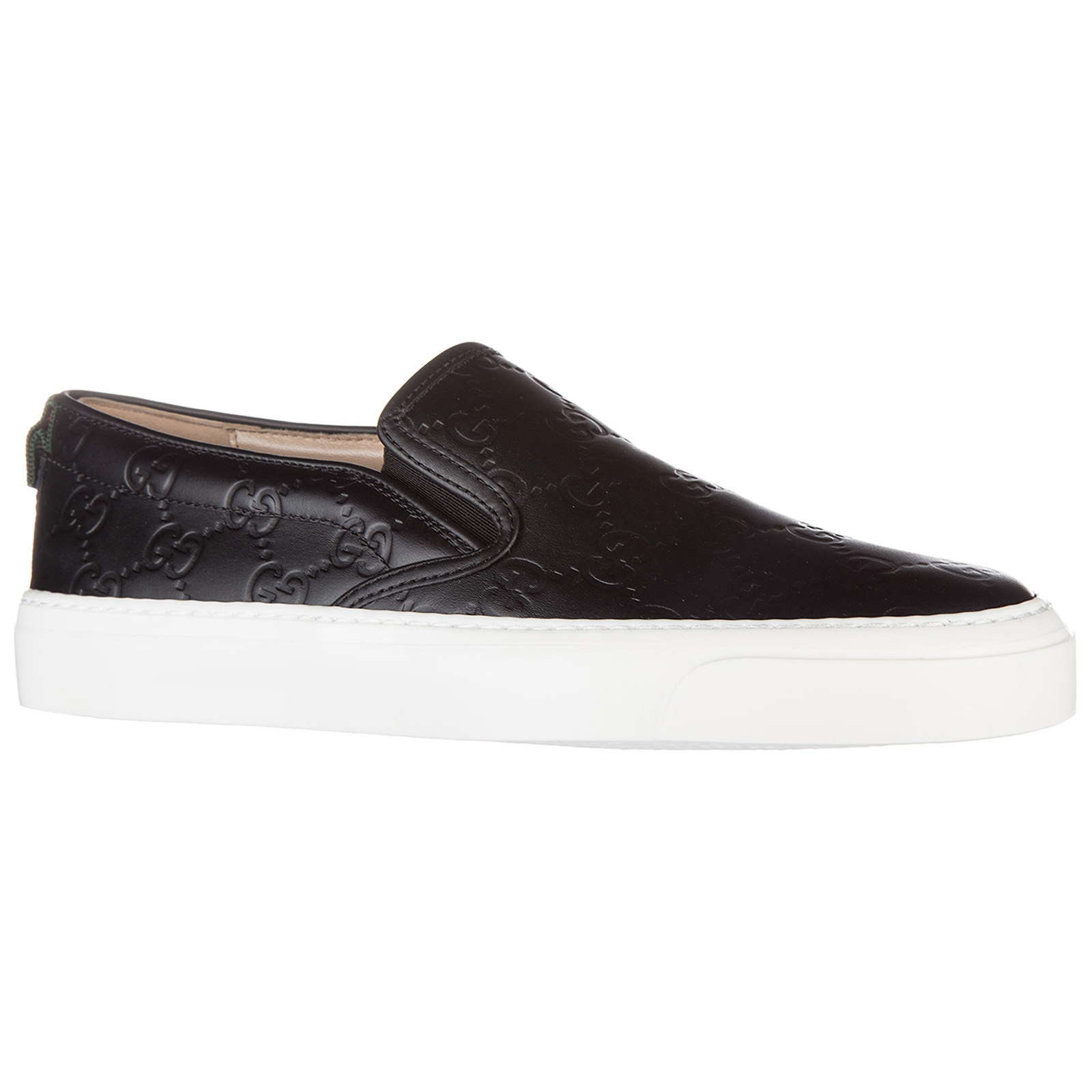 Women's leather slip on sneakers  gucci signature