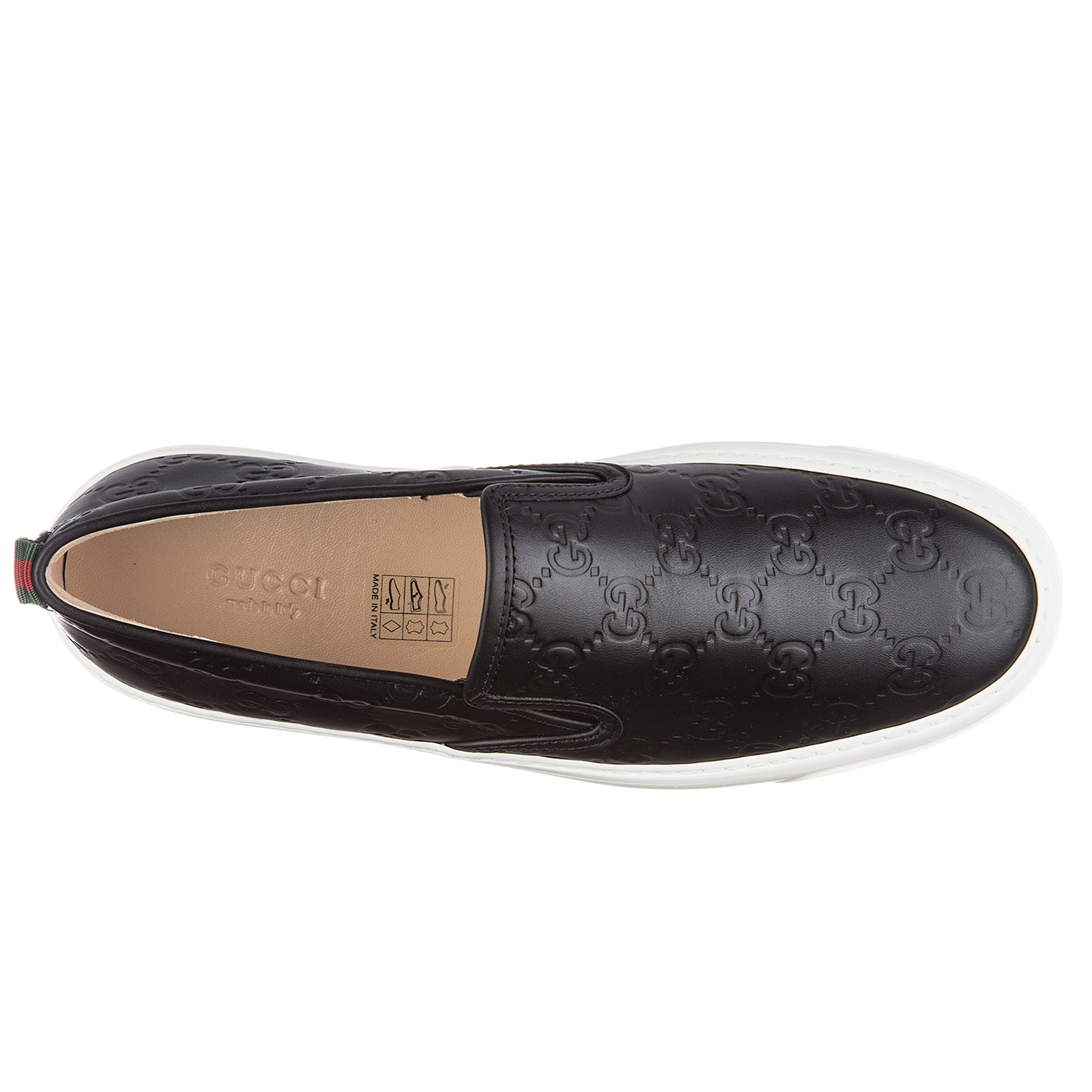 Slip on donna in pelle sneakers  gucci signature