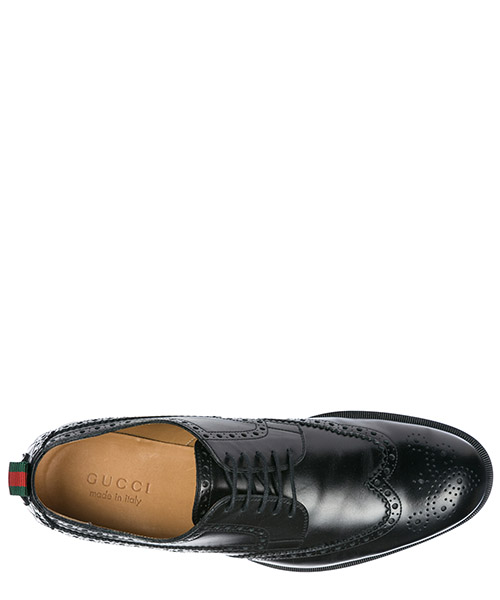 Scarpe stringate classiche uomo in pelle derby brogue secondary image