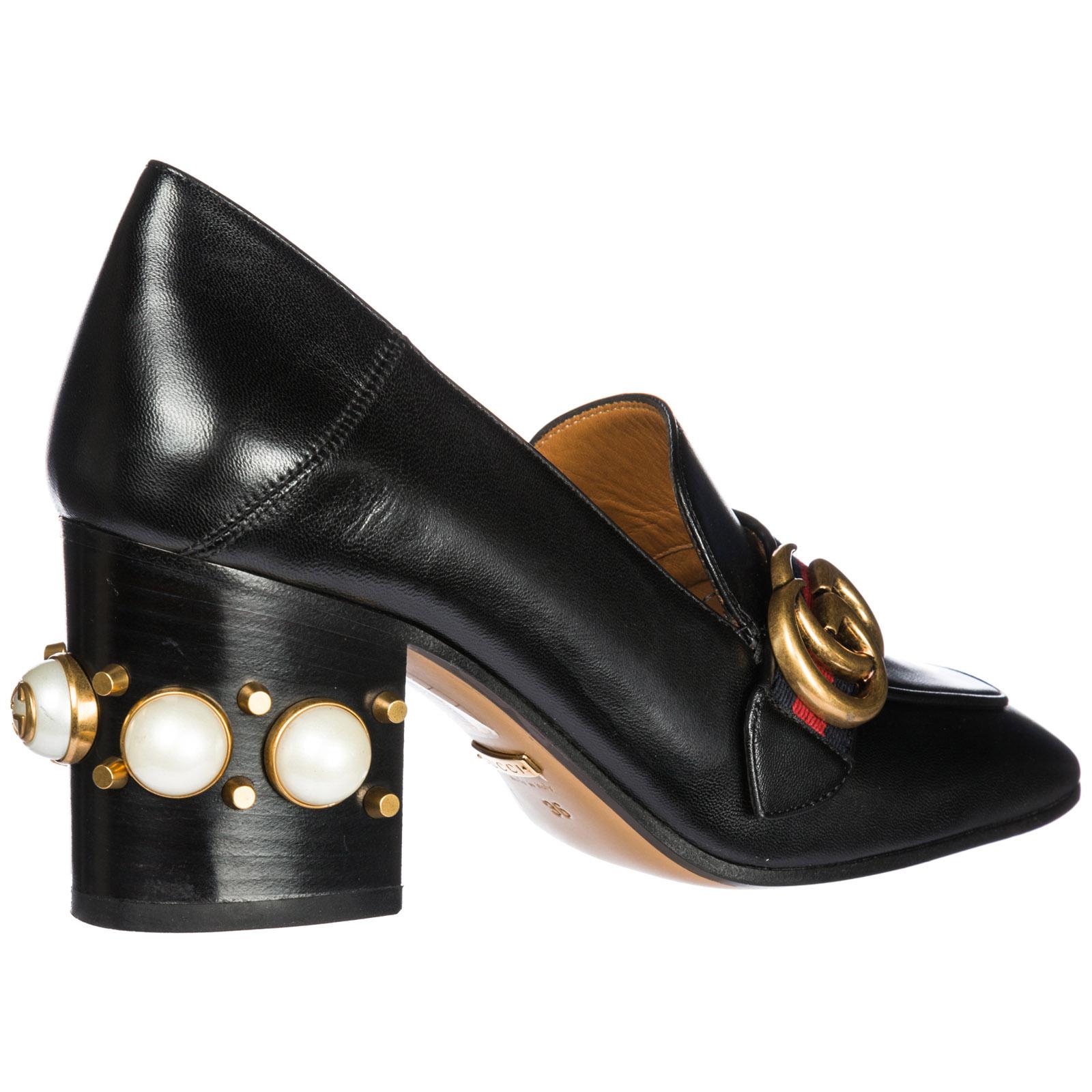nuovo prodotto 89718 8d1b3 Decolletes decoltè scarpe donna con tacco pelle