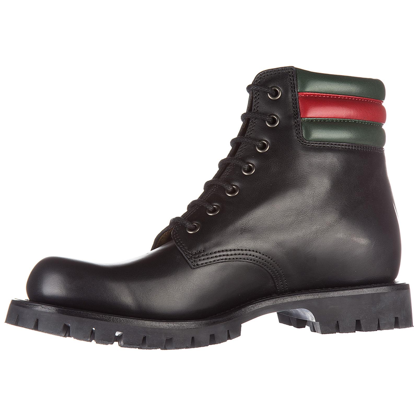 3a59957197e Men's genuine leather ankle boots web pantoufle