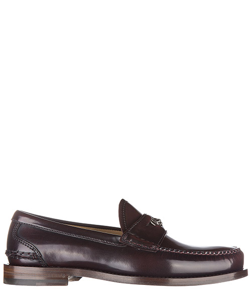 Men's leather loafers moccasins  camaleon feline