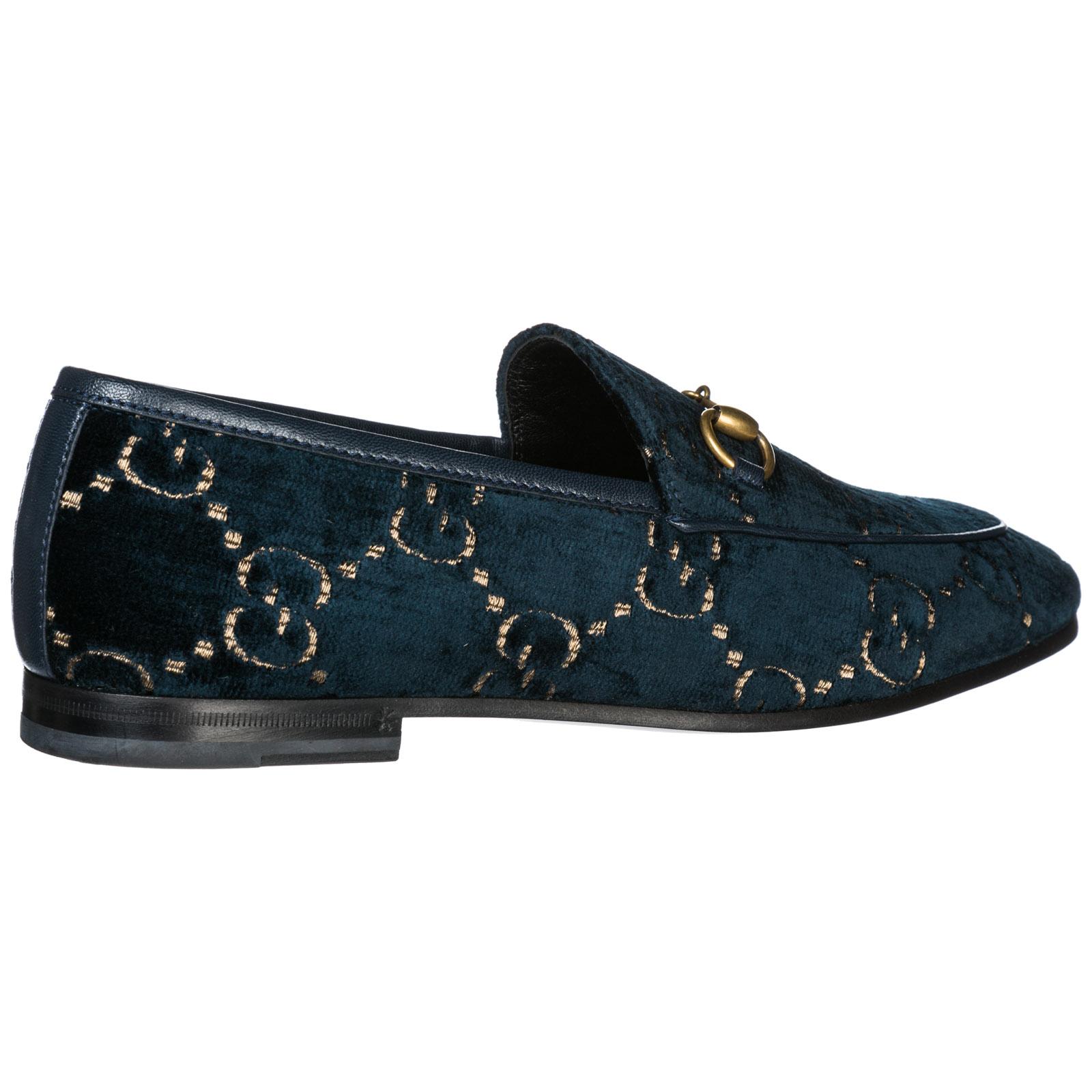 b9f4a8fc8558a Mocassini Gucci Jordaan 431467 9JT20 4280 blue beige blu