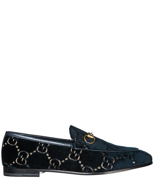Mocassini Gucci Jordaan  431467 9JT20 4280 blue beige blu