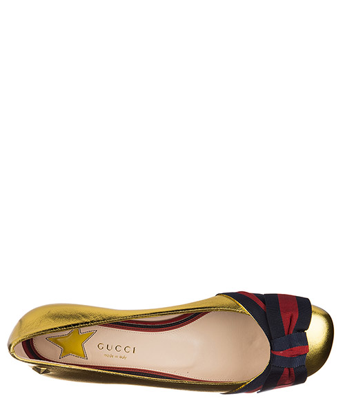 Women's leather ballet flats ballerinas  nappa silk gross grain secondary image