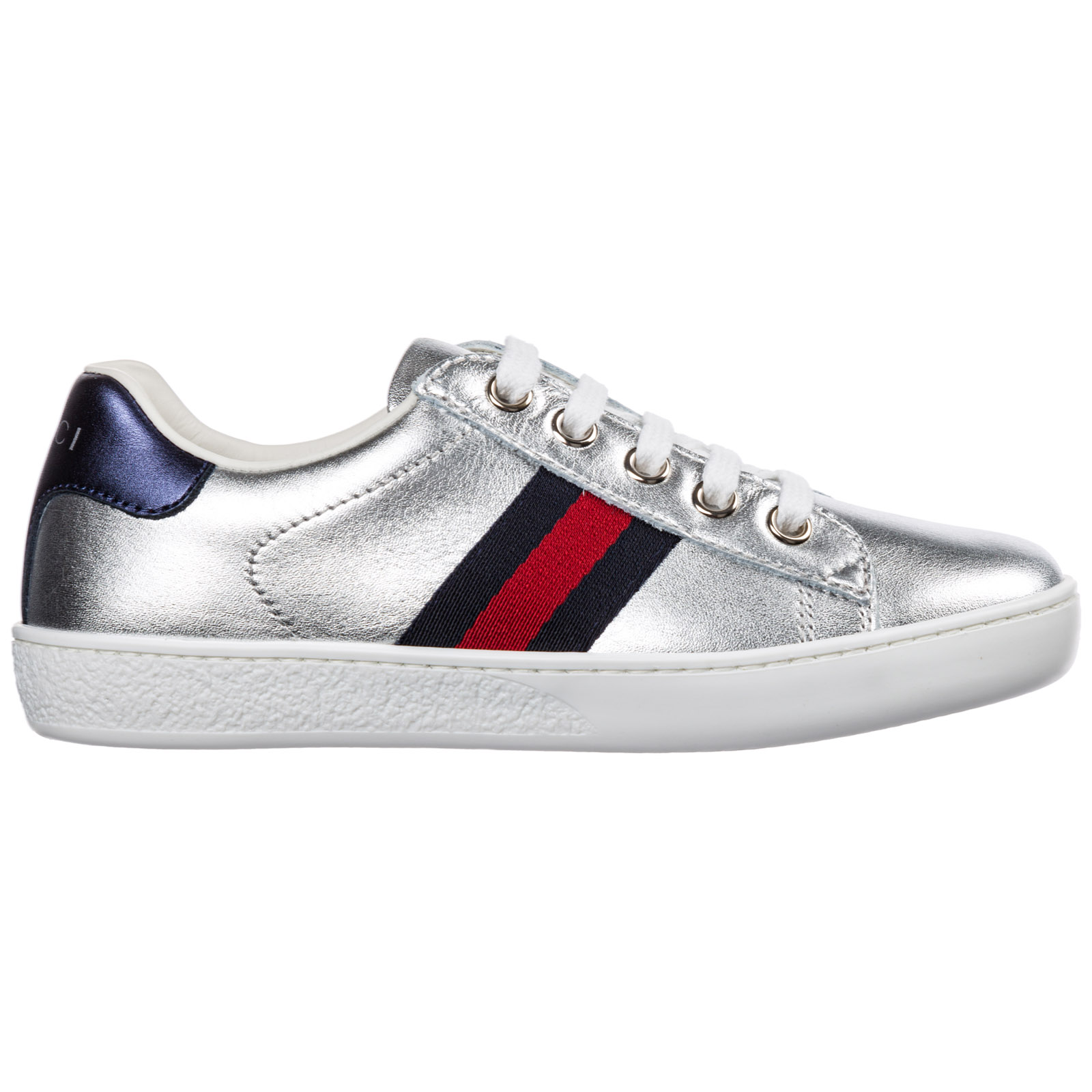 c60457a45 Sneakers Gucci Ace 433148 BMPW0 8171 argento | FRMODA.com