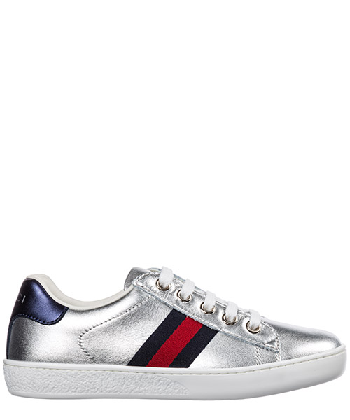Sneakers Gucci Ace 433148 BMPW0 8171 argento